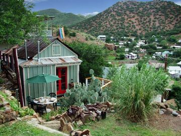 Bisbee cottage rental - Doublejack Guesthouse cottage -- private deck and mountain views
