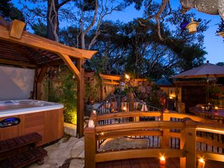 Carmel house photo - Relaxing spa - best reached via the wooden bridge via the arched wooden bridge