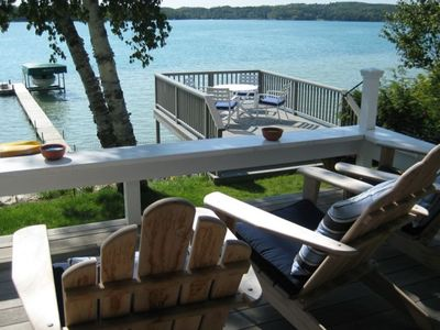 View of Lake and Dock from Porch