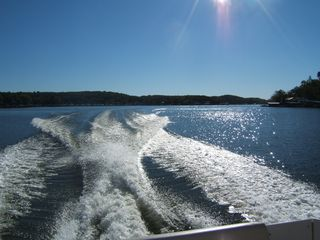 Best ski water on the lake! Nice big cove with easy reach to gas marina service - Gravois Mills house vacation rental photo