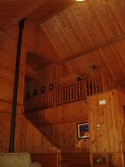 Whitefish cabin photo - Kids love playing in loft area. Easy to see huge volume and vault of home