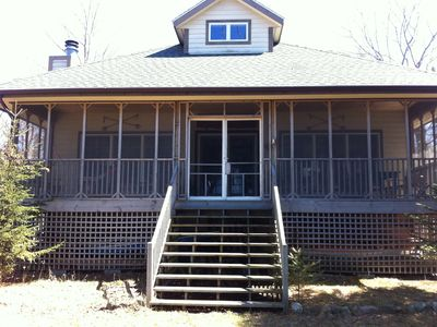 Beaver Island house rental - screened in porch on lakeside