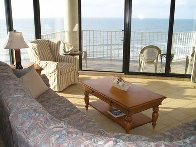 Relax on the sofa and look out at the Atlantic Ocean