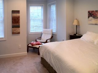 Logan Circle townhome photo - Master Bedroom - reading nook, overlooking Washington DC.
