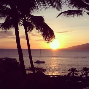 Sunset view from our lanai (May 2012)