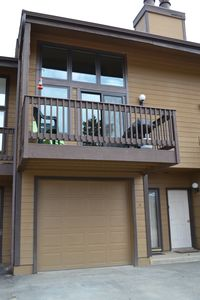 Private garage and balcony. Great for relaxing and grilling
