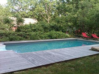 Patterson farmhouse photo - Open until September 30th, Generous 18x32 ft. Salt-Water Pool.