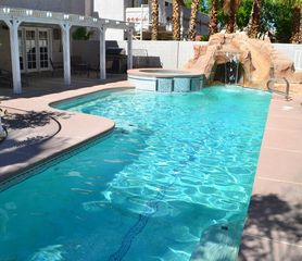 Las Vegas house photo - View of the pool and its waterfall.