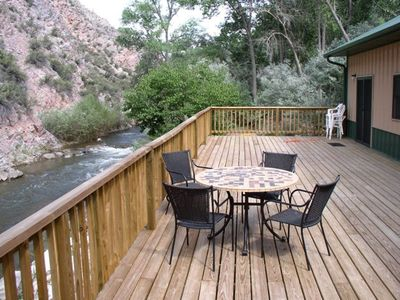Riverfront deck