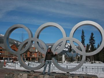 Olympic Rings across the street