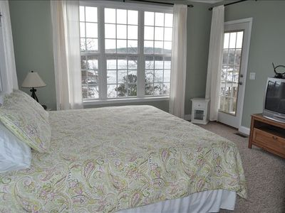 New King bed in master with beautiful view to wake up to.