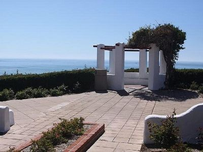 Enjoy fantastic ocean views from this Gazebo park along the walk to the beach.