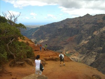 "One of our photos taken at Waimea Canyon, the ""grand canyon of the pacific"""