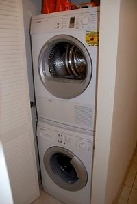 Brand new Bosch washer and dryer right in your unit!