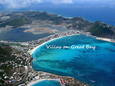 Our villa is located just left of the V in Villas, great walking beach