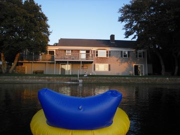 West Yarmouth house rental - float and relax- view of back of house