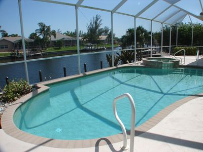 Cape Coral villa rental - South-facing private pool & sundeck