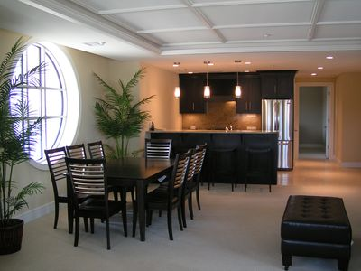 Traverse City condo rental - Looking from living room thru dining area to kitchen