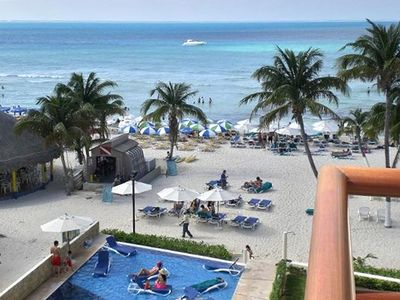 UNIT # 406 POOL AND BEACH FROM THE 4TH FLOOR BALCONY