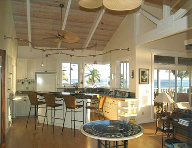 Soaring Ceilings. walls of glass and ocean views from every window!