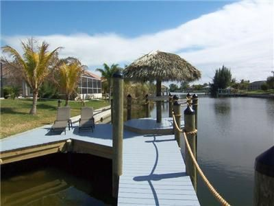 Backfront w/Boat dock and Tiki hut