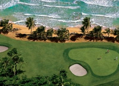 Rio Mar Ocean Course signature #16 which sits adjacent to our property