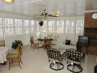 Stone Mountain house photo - Another view of the Sun room over looking the back and the side.