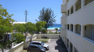 Hastings condo photo - View from the front door, steps from the beach!