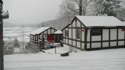 the compound in the winter..quiet beauty...