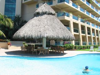 Nuevo Vallarta condo photo - Palapa party centre with full barbecue and hot tub. Private palapa on rooftop.