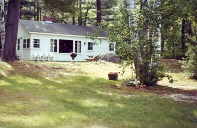 Cottage as viewed from center of yard