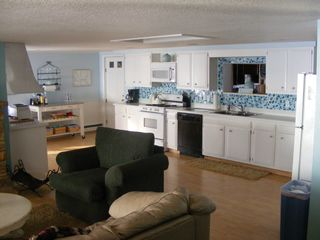 Oscoda house photo - The spacious kitchen. Views of the lake too!