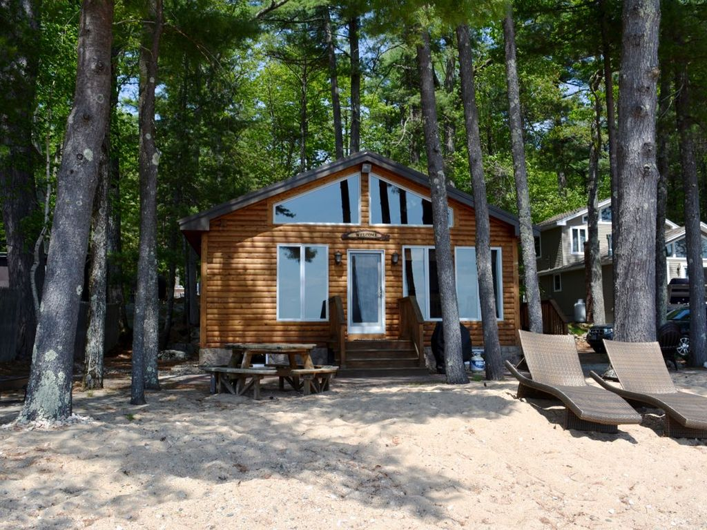 waterfront cabin with private sebago lake beach vrbo