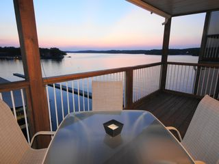Osage Beach condo photo - Enjoy the sunsets from the Deck overlooking the Lake's Main Channel