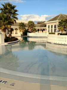 Resort style pool with walk in entrance