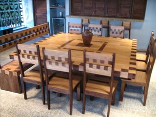 Puerto Escondido house photo - Dining table features custom-designed inlaid wood