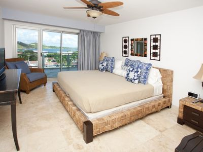 Master bedroom and lagoon patio access