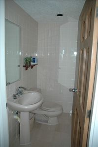 1/2 Bathroom off living area.