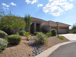 Scottsdale Troon house photo - Soutwest view of the front of your beautiful vacation rental!
