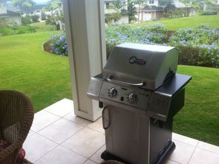 Private barbecue on the lanai.