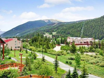 Keystone condo rental - Mountain/Valley/River view from balcony!