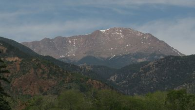 Pikes Peak from Manitou Springs, only minutes away (not a view from the home)
