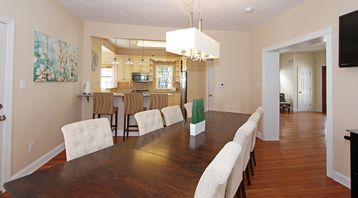 Atlantic City house rental - Dining and kitchen areas are open to one another