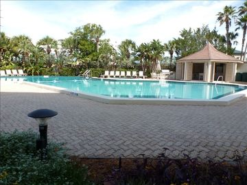 Large heated swimming pool, hot tub, restroom gas grill, cabana with kitchen, tv