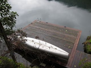 Port Angeles cabin photo - Dock and Canoe