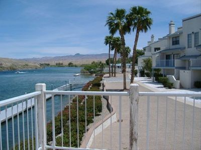 Relaxing rental right on the river downstream from for Laughlin cabins
