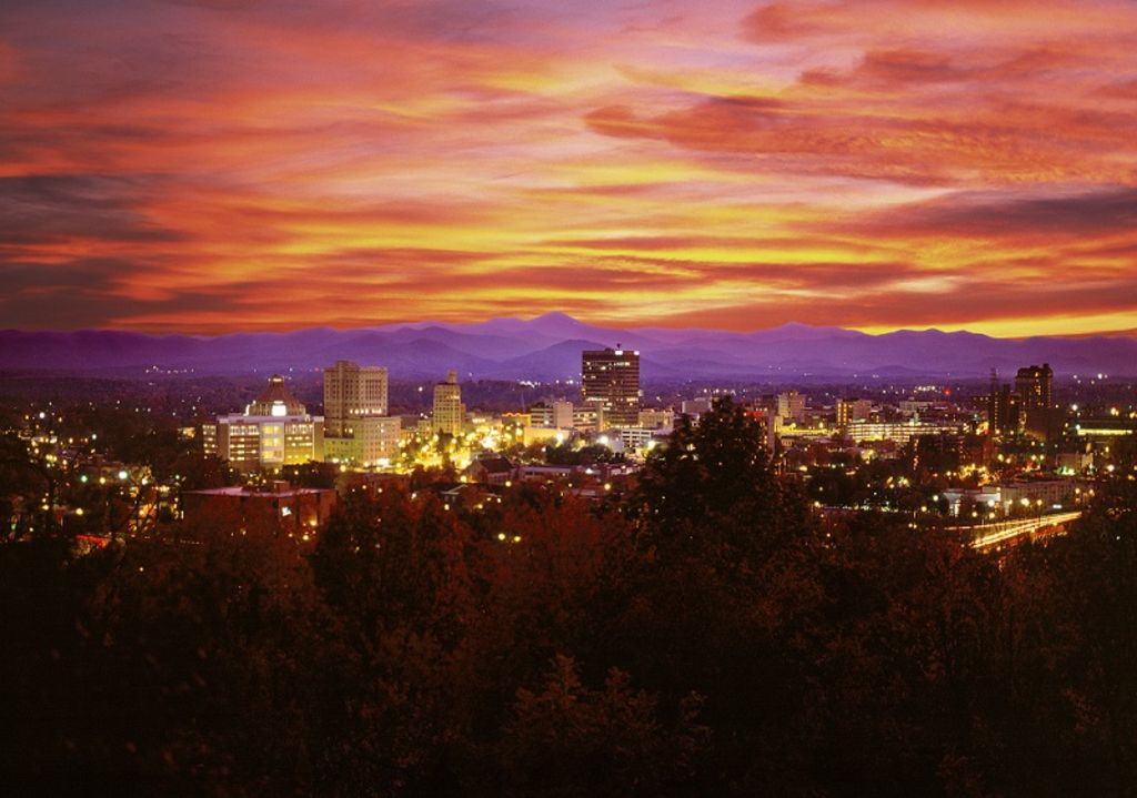spectacular downtown asheville and mountain