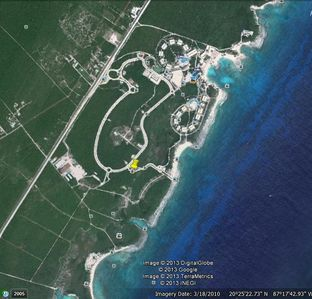 Google earth location of our condo. Only 400 yards from our private beach.