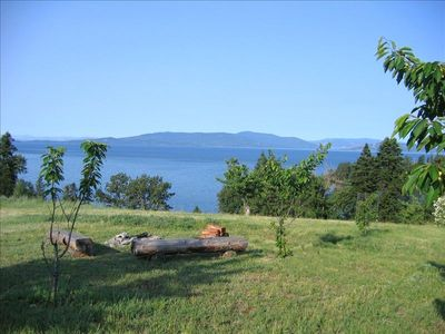 Bigfork cabin rental - VIEW OF FLATHEAD LAKE FROM FIREPIT