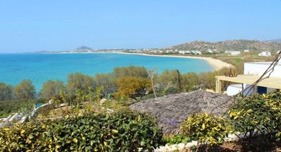 the beach and sea view in a garden full landscape just few meters from the sand